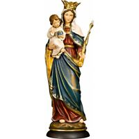 Maria Königin, Madonna Holzgeschnitzte Muttergottes mit Kind, Marienfigur