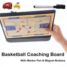 PU Leather Basketball Coaching Board Coaches Clipboard Kit+Marker Pen Sportcraft