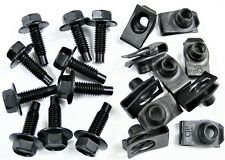 "GM Body Bolts & U-nut Clips- 5/16-18 x 1"" Long- 1/2"" Hex- 20 pcs (10ea)- #411"