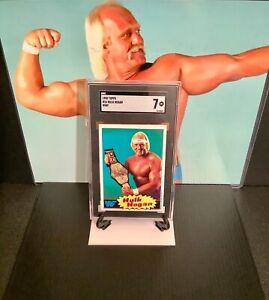 "1985 TOPPS WWF #16 HULK HOGAN ROOKIE CARD SGC 7 NM-MT ""HULKAMANIA"" 💪🏻😎 🇺🇸"