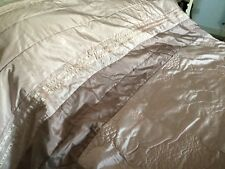 """Dunelm Mill Stunning Pinks/taupe Faux Satin Bedspread 8ft X 8ft 8"""""""