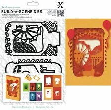 XCUT BUILD A FAIRGROUND SCENE SHADOW BOX 5 DIES CUTTING DIE SET UNIVERSAL FIT
