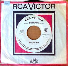 MICHAEL PAUL - BOM BOM BOM b/w JINGLE JANGLE- RCA 45 - WHITE LBL PROMO - 1967