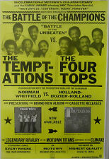 Temptations - Four Tops - BATTLE OF CHAMPIONS Vintage Motown Promo Poster [1983]