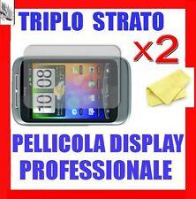 """2x Pellicola """"TRIPLO STRATO"""" + PANNO Per HTC WILDFIRE S"""