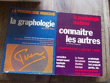 """Lot de 2 livres """"la psychologie moderne"""" la graphologie et connaître les autres"""