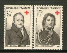 TIMBRES 1433-1434 NEUF XX - CROIX-ROUGE - J.N. CORVISART ET DOMINIQUE LARREY