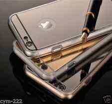 NEW Coque pour Apple iPhone 4 5S 6S + Miroir Acrylique Bling Beauté Case Souple