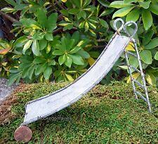 Rustic Tin Slide DA TIN999  Miniature Faerie  Gnome  Hobbit Garden