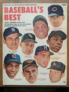 1960 Baseball's Best Magazine Willie Mays Hank Aaron Nellie Fox Ernie Banks MLB