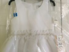 NWT US ANGELS WHITE ORGANZA DRESS W/ FLOWER & BEADS! GIRLS 10 $152.00+ MUST SEE!