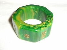 VTG BACKGAMMON BAKELITE GREEN HIGH 6561 FINLAND DOUBLING TRIPLER RING CUBE DICE