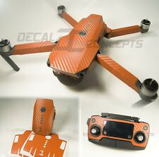 DJI Mavic Orange Carbon Fiber Full Graphic Wrap kit - Decal Skin Sticker Pro