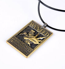 Anime One Piece Wanted Portgas.D. Ace Necklace Pendant