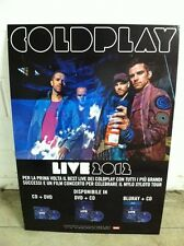 COLDPLAY display cartonato LIVE 2012 Promo medium size 100x68 Italy Chris Martin