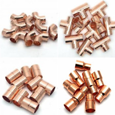 100 X 15MM COPPER END FEED MIXED FITTINGS PACK JOB LOT PLUMBING/DIY/COPPER PIPE