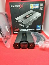Creative Sound BlasterX G6 - 7.1-Channel DAC and External soundcard PC PS4