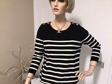 Filippa K, Pullover, Größe: M  schwarz, Merinowolle/Baumwolle