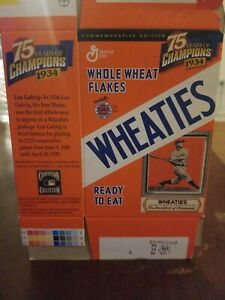 Wheaties Mini Box 75 Years Of Champions Lou Gehrig Mint Unfolded!