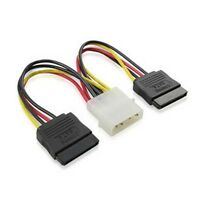 4 pin IDE Molex to 2 Serial ATA SATA Power Cable connectors