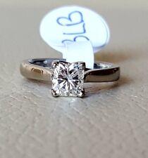 Platinum radiant cut soltiare diamond ring 0.78ct