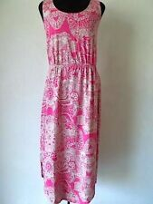 Liz Claiborne Sleeveless Floral Dress in Magenta Size P2X
