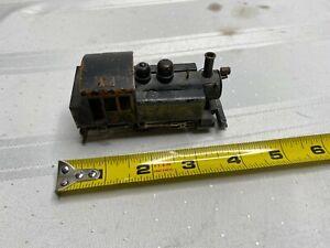 VINTAGE HO SWITCHER BRASS ENGINE TRAIN LOCOMOTIVE ...LOOK