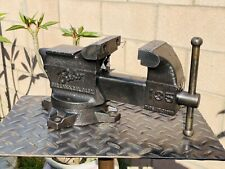 BABCO OAKLAND CAL3.5' JAW # 135 SWIVEL ANVIL BENCH VISE CAST IRON MADE IN JAPAN