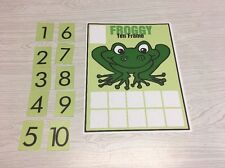 Froggy - Ten frame Mat Laminated Activity Set - Teaching Supplies