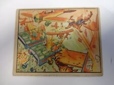1938 Gum Horrors Of War Chinese Pursuers Shoot Down Planes Card # 5