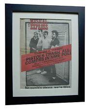 WIRE+Pink Flag+RARE+ORIGINAL+VINTAGE NME 1977+POSTER+FRAMED+EXPRESS GLOBAL SHIP