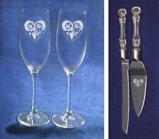 Nightmare Before Christmas Wedding Glasses Knife Server heart