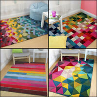 Quality Modern 100% Wool Hand Tufted Rug Multi Colours in Various Sizes Carpet