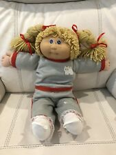 JESMAR (Spain) Cabbage Patch Girl With Blonde Hair, Blue Eyes & Freckles