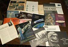 17-Piece Vintage Lot 1950s-1960s Aerospace Education Ephemera Teaching Material