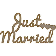 MDF Quotes: Just Married (150mm x 82mm)