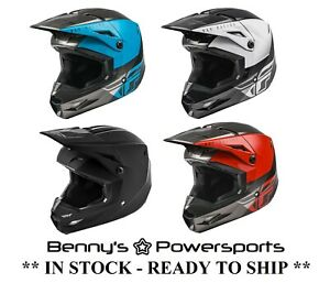 Fly Racing Kinetic Helmet Youth & Adult Sizes Offroad MX Snowmobile BMX ATV