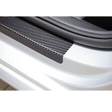 4* 3D Carbon Fiber Black Car Door Sill Scuff Plate Cover Anti Scratch Sticker