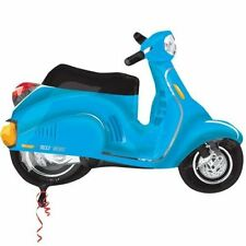 BLUE MOTORBIKE SCOOTER VESPA BALLOON PARIS PARTY DECORATION ITALIAN EUROPEAN