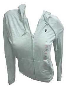 Victoria's Secret Pink Lightweight Perfect Fit Hoodie Color Green XSmall NWT