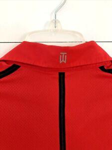 Nike Tiger Woods Collection Golf Polo Shirt Sunday Red EUC Size Medium