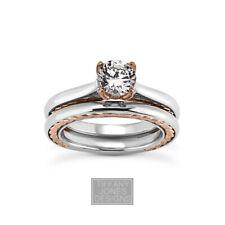 3/4ct E SI1 Rund Schliff Zertifizierte Diamant 14k Gold Ring mit Passendem Band