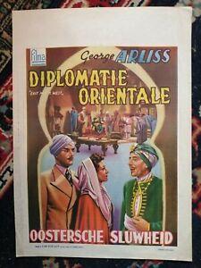 Diplomatie Orientale East meets West Original Belgian Movie Poster Affiche 1936