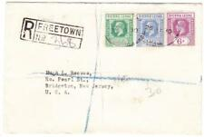 Sierra Leone SG#131,#135,#139-FREETOWN 26/JY/30-REGISTERED-TO USA-back