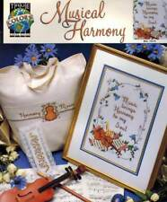 Music Brings Harmony to my Soul Cross Stitch PATTERN Violin Notes Flower Sampler