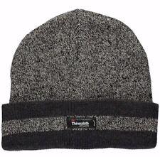 Men Winter Warm Ski Plain Knit Thinsulate 40g Thermal Insulation Beanie Hat Cap Black 02