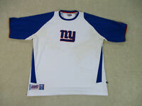 New York Giants Shirt Adult Extra Large White Blue NFL Football Mens A36*