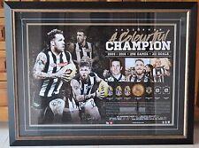 Dane Swan personally signed / framed retirement print- AFL official merchandise