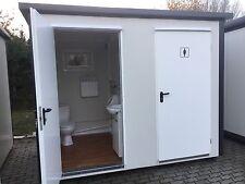 WC-Doppelcontainer WC Container Toilette Box Doppelkabine Toilettencontainer NEU