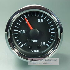 VDO LADEDRUCK ANZEIGER *CHROME EDITION*   -1 - 1,5 bar  PRESSURE GAUGE  52mm